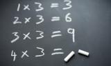 Chalkboard three times tables